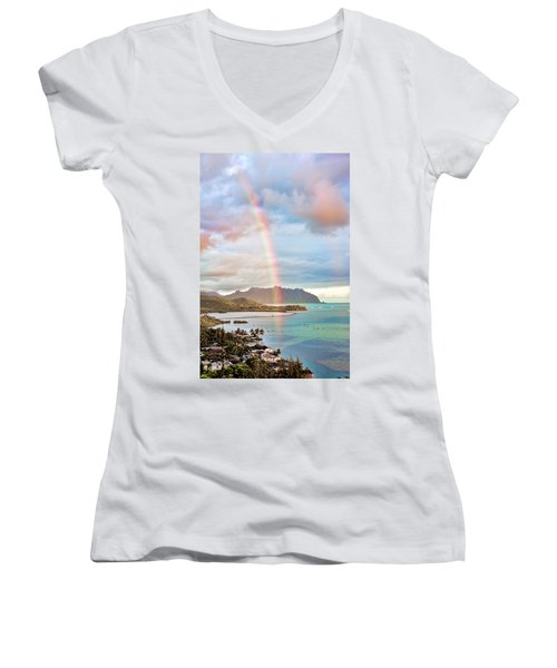 Black Friday Rainbow Women's V-Neck (Athletic Fit)