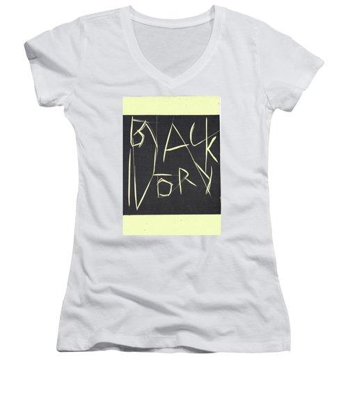 Black Ivory Title Page Women's V-Neck