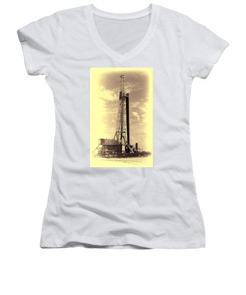 Black Leg Women's V-Neck T-Shirt