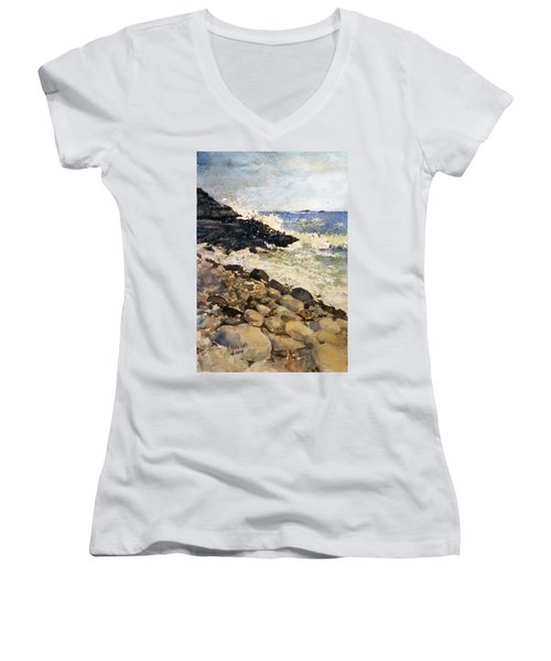 Black Rocks - Lake Superior Women's V-Neck