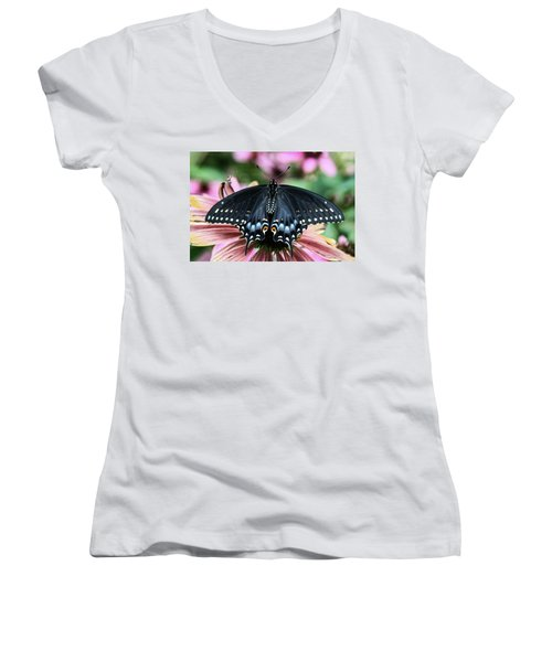 Black Swallowtail 3 Women's V-Neck