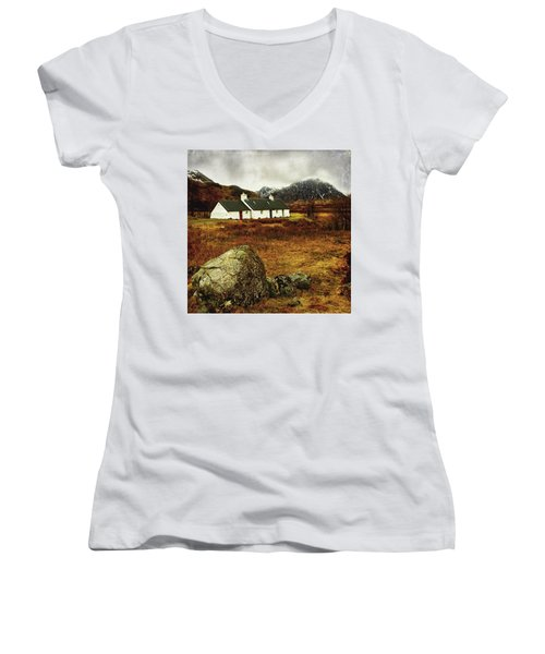 Blackrock Cottage Glencoe Women's V-Neck T-Shirt