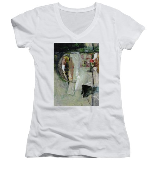 Blanco Birds Women's V-Neck T-Shirt