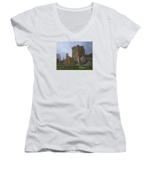 Blarney Castle Women's V-Neck (Athletic Fit)