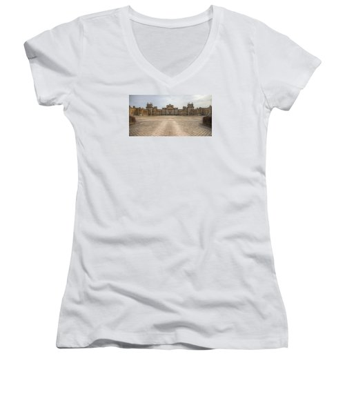 Blenheim Palace Women's V-Neck T-Shirt (Junior Cut) by Clare Bambers
