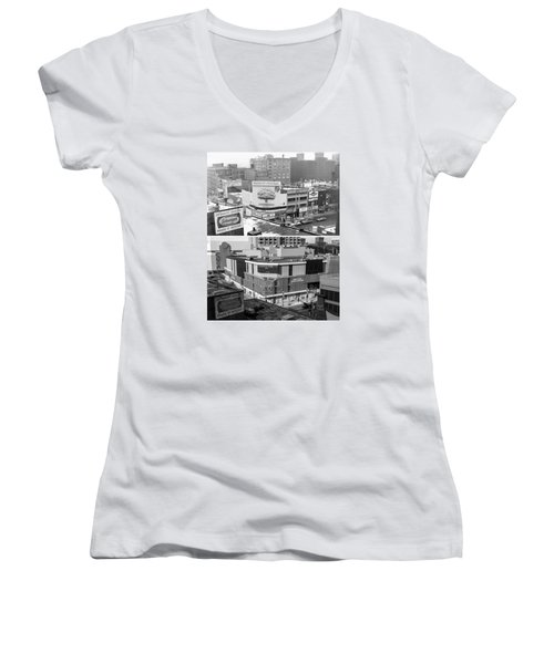 Block 'e' In Minneapolis Women's V-Neck T-Shirt