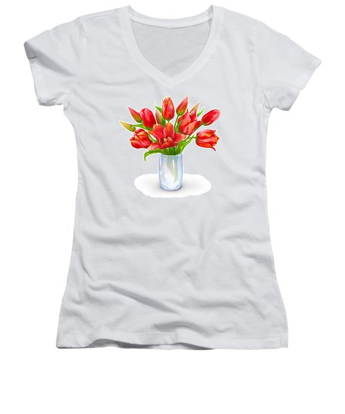 Bloomers Women's V-Neck T-Shirt