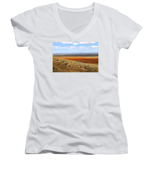 Blooming Season In Antelope Valley Women's V-Neck (Athletic Fit)