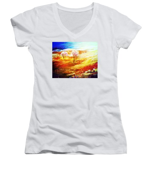 Blossom Dawn Women's V-Neck T-Shirt