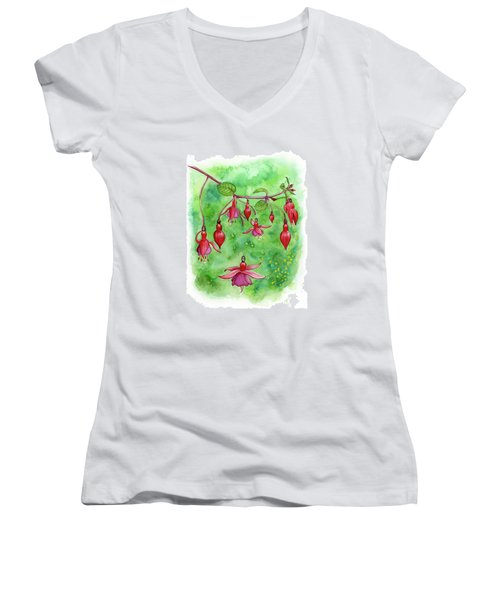 Blossom Fairies Women's V-Neck T-Shirt