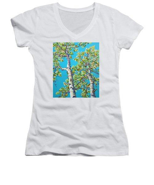 Blossoming Creativitree Women's V-Neck