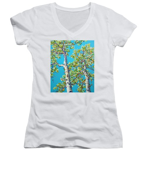 Blossoming Creativitree Women's V-Neck (Athletic Fit)