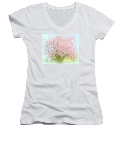 Blossoms Women's V-Neck (Athletic Fit)