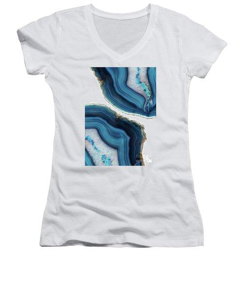 Blue Agate Women's V-Neck