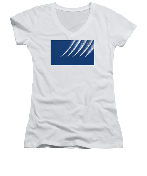 Blue Angels Formation Women's V-Neck (Athletic Fit)