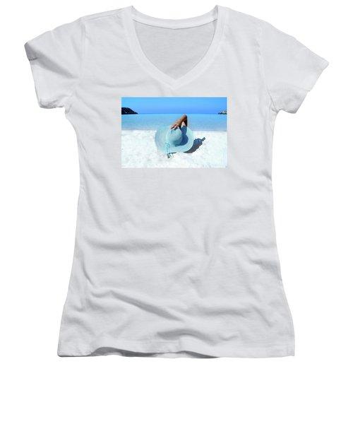 Blue Beach Women's V-Neck T-Shirt