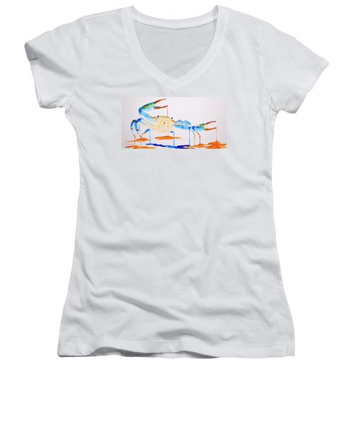 Blue Crab Women's V-Neck T-Shirt