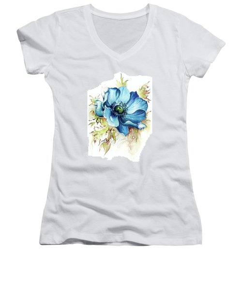 Blue Gem Women's V-Neck