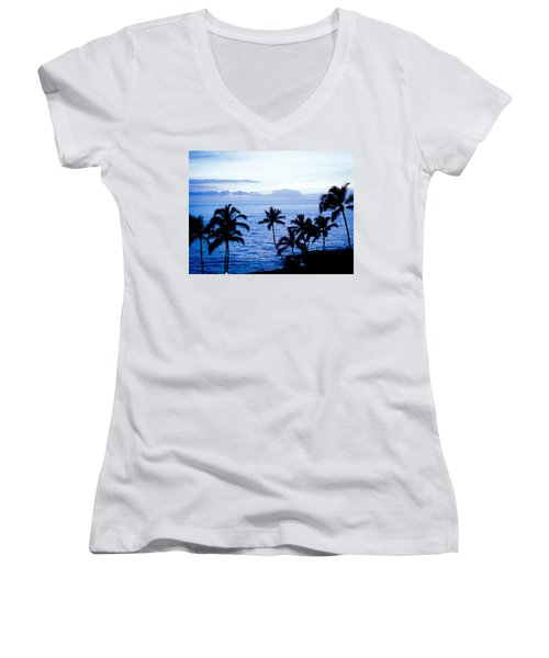 Blue Hawaii Women's V-Neck T-Shirt