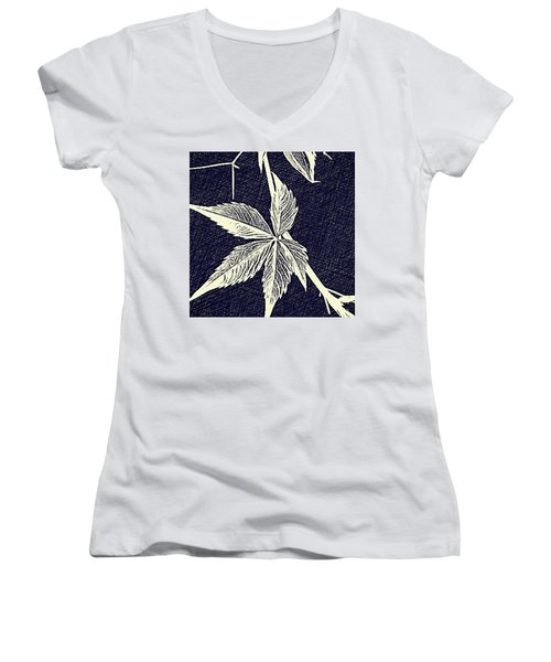 Blue Leaf Women's V-Neck