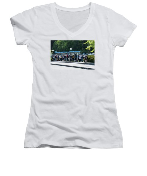 Blue Line On Campus Women's V-Neck