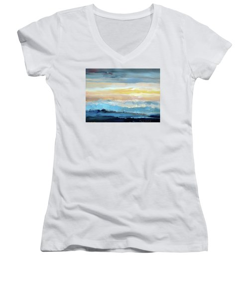 Blue Ridge Mountain Sunset 1.0 Women's V-Neck T-Shirt