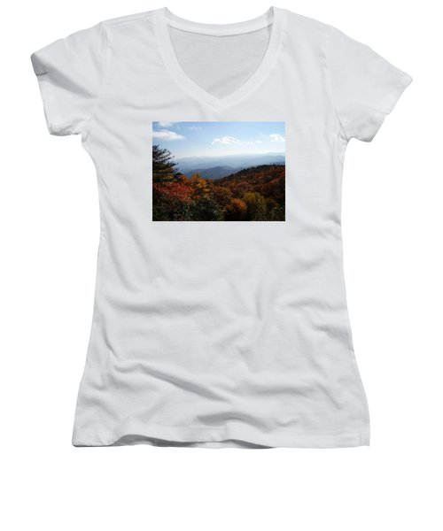 Blue Ridge Mountains Women's V-Neck (Athletic Fit)