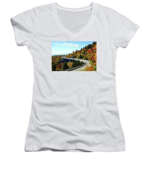 Blue Ridge Parkway Viaduct Women's V-Neck (Athletic Fit)