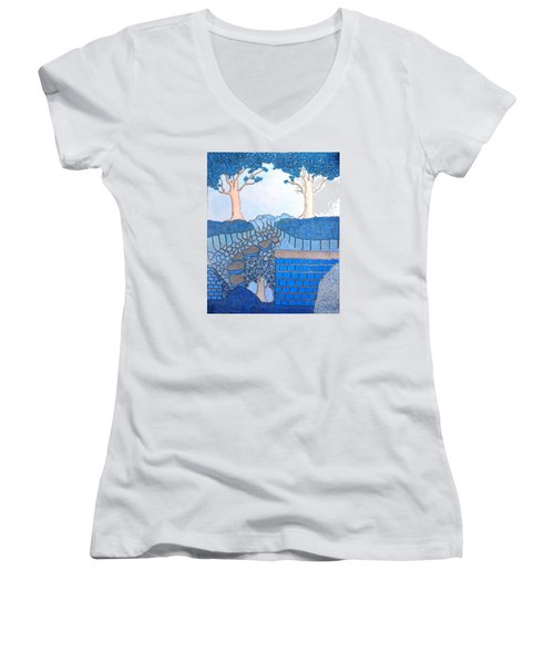 Blue Trees Women's V-Neck (Athletic Fit)