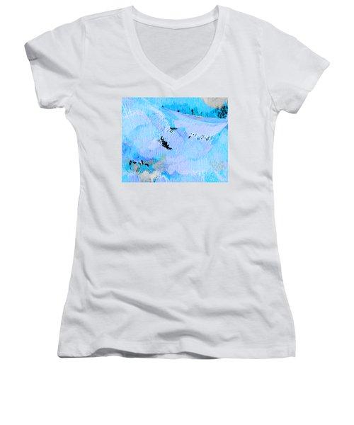 Blue Water Wet Sand Women's V-Neck T-Shirt
