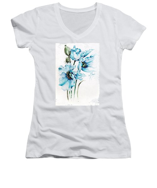 Blue Wind Women's V-Neck T-Shirt