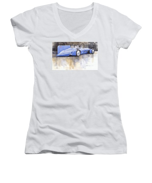 Bluebird World Land Speed Record Car 1931 Women's V-Neck (Athletic Fit)