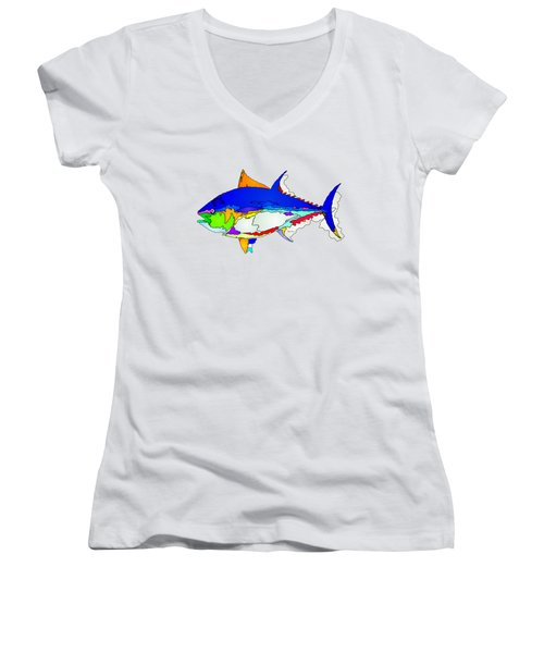 Bluefin Tuna  Women's V-Neck (Athletic Fit)