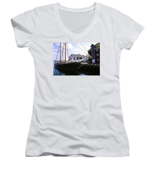 Bluenose II At Historic Properties Halifax Nova Scotia Women's V-Neck (Athletic Fit)