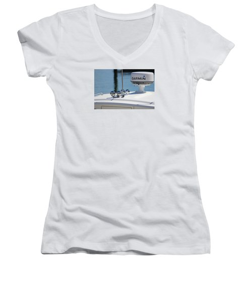 Boat Business Women's V-Neck T-Shirt (Junior Cut) by Jewels Blake Hamrick