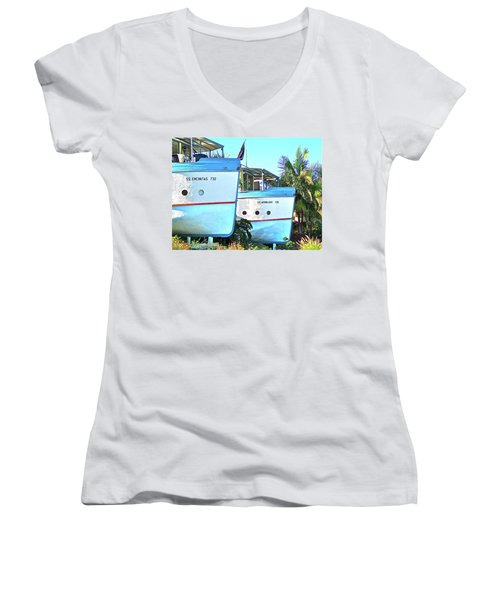 Boat Houses  Women's V-Neck