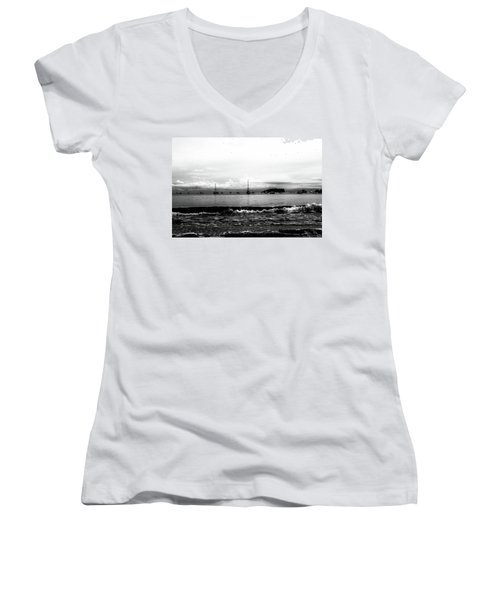 Boats And Clouds Women's V-Neck
