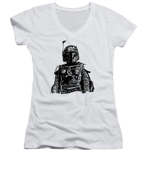 Boba Fett From The Star Wars Universe Women's V-Neck