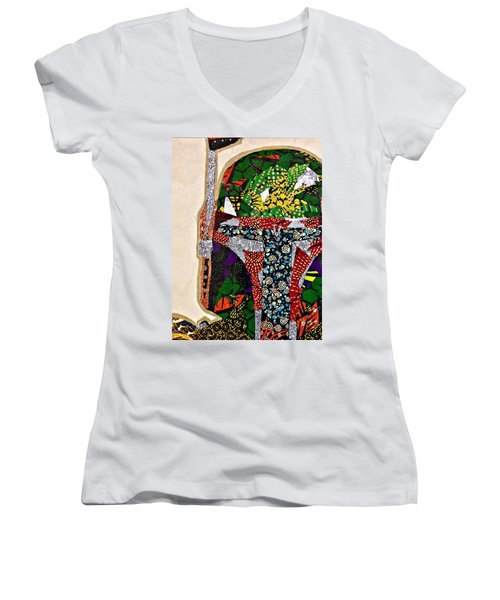 Boba Fett Star Wars Afrofuturist Collection Women's V-Neck T-Shirt