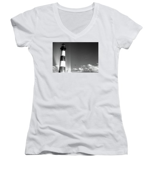 Bodie Island Lighthouse Women's V-Neck T-Shirt