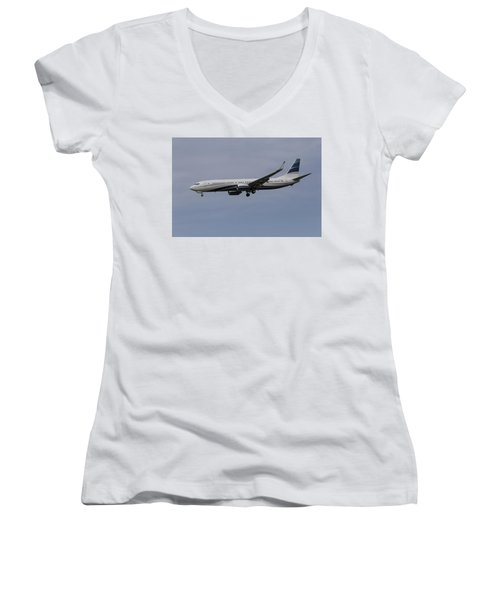 Boeing 737 Private Jet Women's V-Neck T-Shirt
