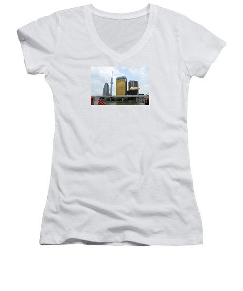 Tokyo Bokutei Dori  Women's V-Neck T-Shirt