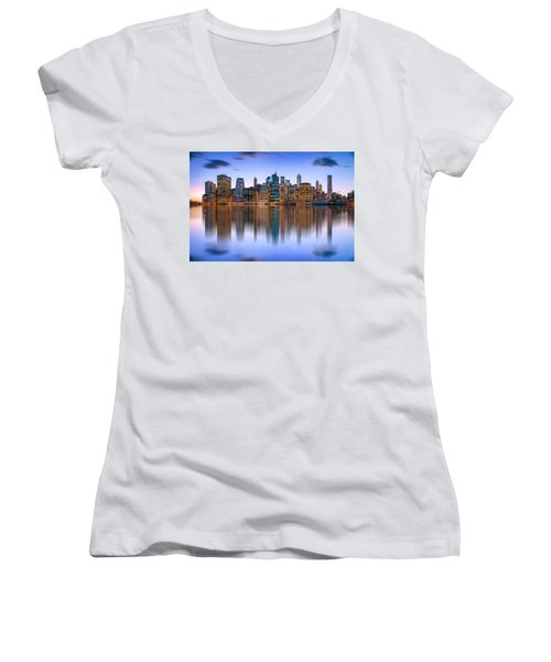 Bold And Beautiful Women's V-Neck T-Shirt (Junior Cut) by Az Jackson