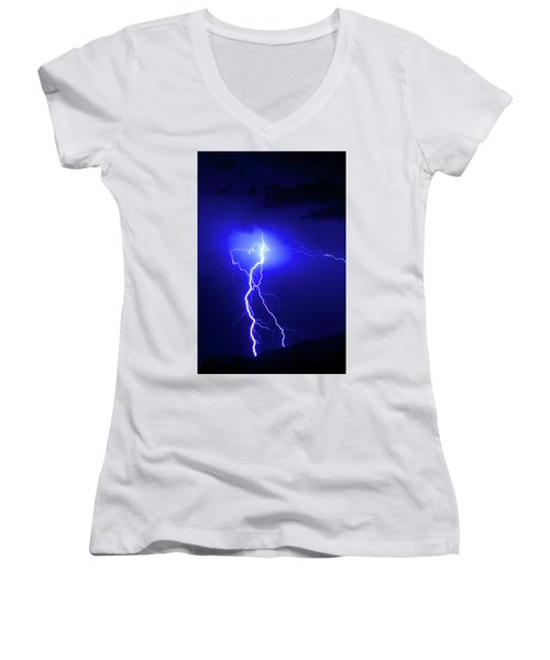 Bolt From The Blue Women's V-Neck