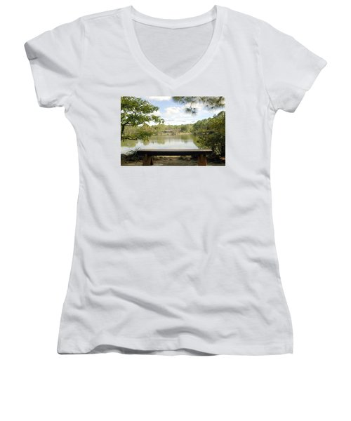 Bonsai Lake Women's V-Neck T-Shirt