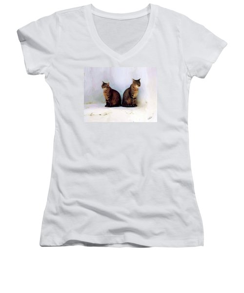 Bookends - Rdw250805 Women's V-Neck