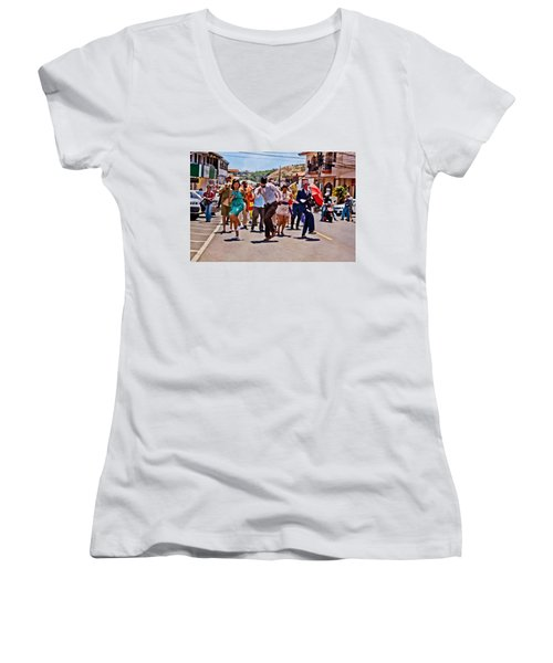 Boquete Jazz Festival 2012 Women's V-Neck (Athletic Fit)