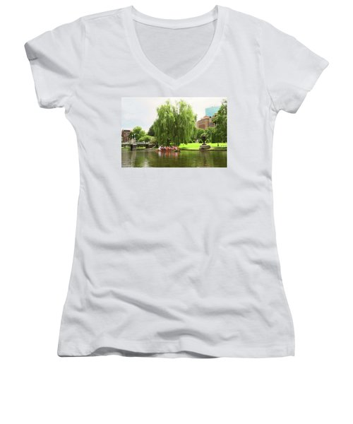 Boston Garden Swan Boat Women's V-Neck