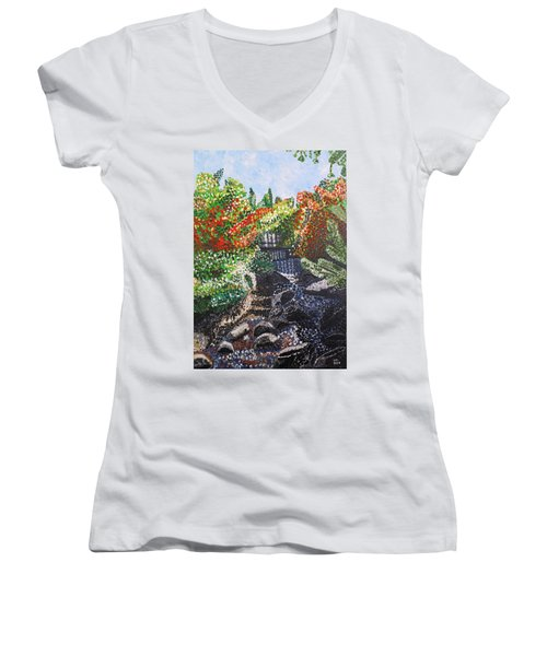Botanic Garden Merano 1 Women's V-Neck (Athletic Fit)
