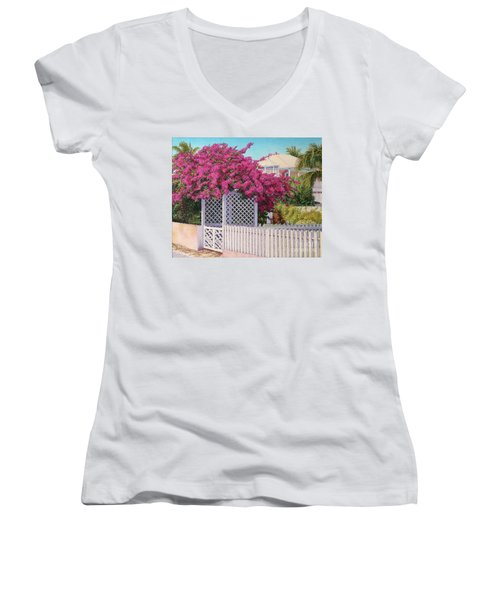 Bougainvillea Crown Women's V-Neck